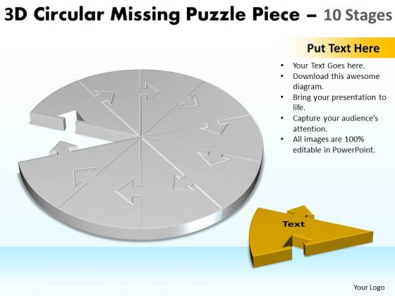 Marketing Diagram 3d Circular Missing Puzzle Piece 10 Stages 2 Marketing Diagram