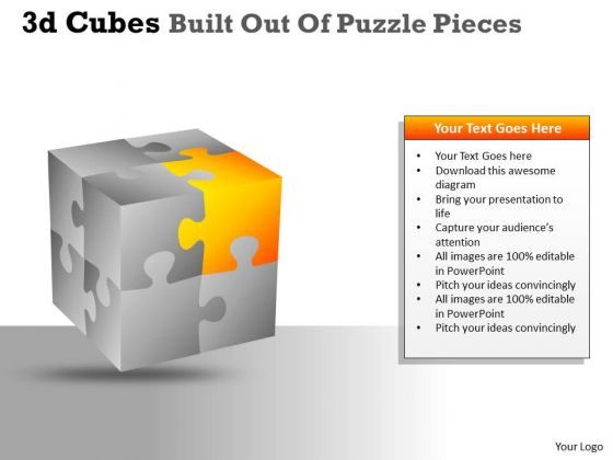 Marketing Diagram 3d Cubes Built Out Of Puzzle Pieces Mba Models And Frameworks