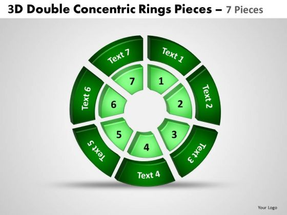 Marketing Diagram 3d Double Concentric Rings Pieces 3 Strategy Diagram