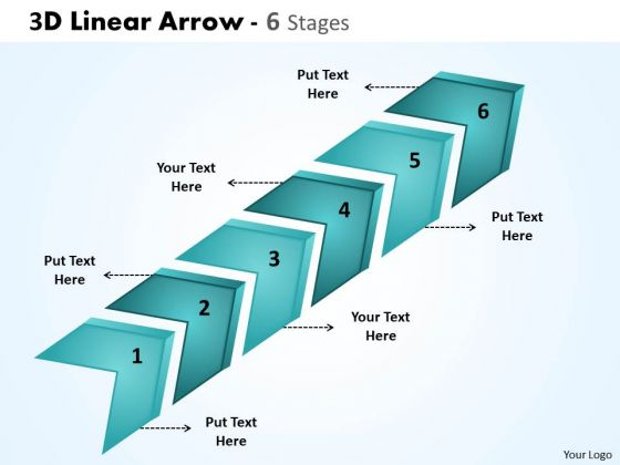 Marketing Diagram 3d Linear Arrow 6 Stages Mba Models And Frameworks