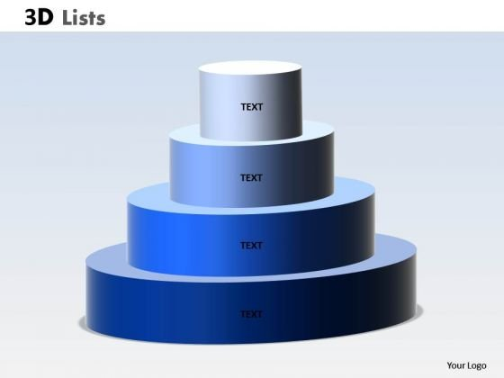 Marketing Diagram 3d List Circular Design Sales Diagram