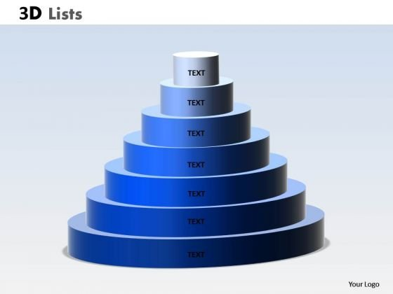 Marketing Diagram 3d List Circular Diagram With 7 Stages Consulting Diagram