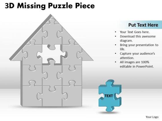 Marketing Diagram 3d Missing Puzzle Piece Home Business Diagram