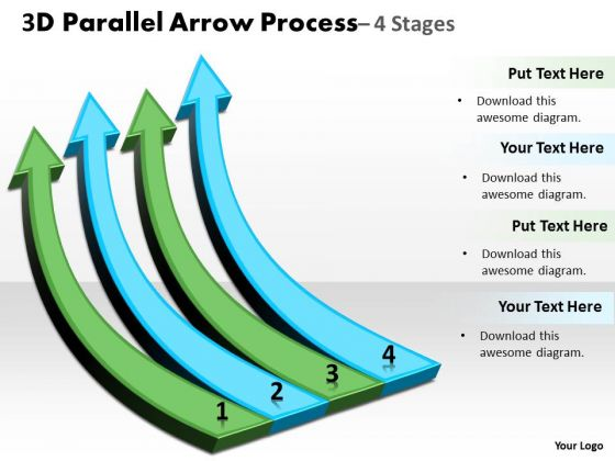 Marketing Diagram 3d Parallel Arrow Process Business Cycle Diagram