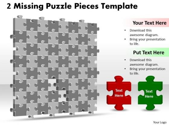 Marketing Diagram 3d Puzzle Together With Missing Pieces Consulting Diagram