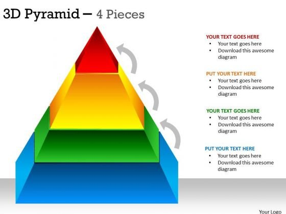 Marketing Diagram 3d Pyramid 4 Levels For Sales Business Cycle Diagram