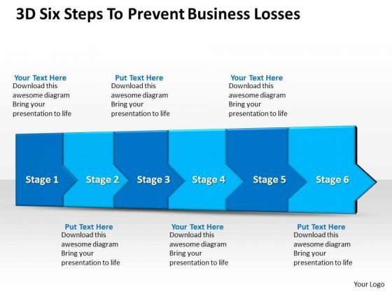Marketing Diagram 3d Six Steps To Prevent Business Losses Mba Models And Frameworks