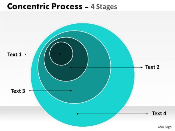 Marketing Diagram 4 Staged Concentric Circle Diagram Consulting Diagram