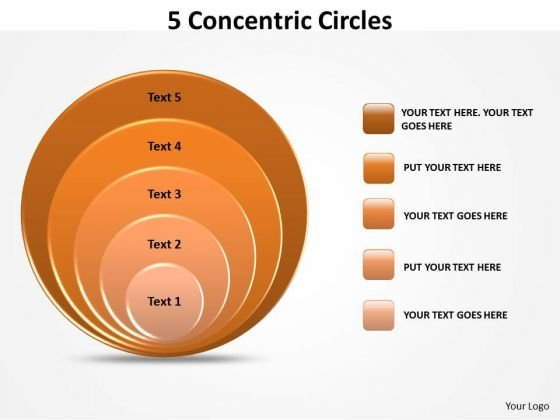 Marketing Diagram 5 Concetric Circles Strategy Diagram