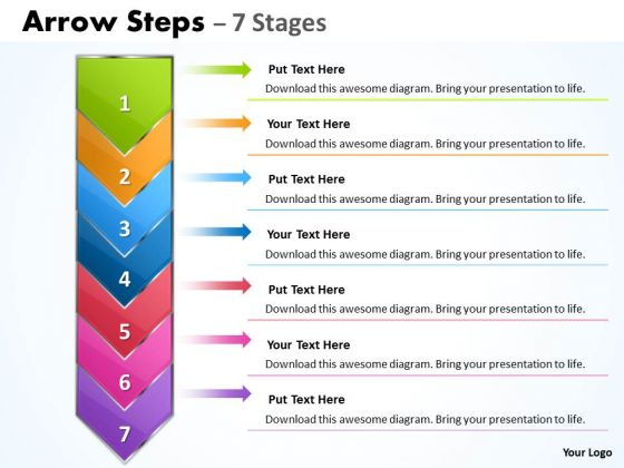 Marketing Diagram 7 Arrows For Sequential Growth Process Consulting Diagram