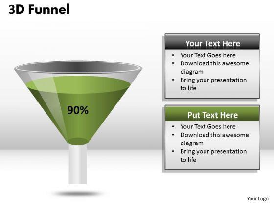 Marketing Diagram 90 Percent Value Representation Funnel Diagram Strategy Diagram
