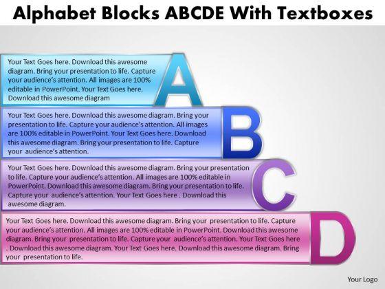 Marketing Diagram Abcd Blocks Diagram For Business Process Business Diagram