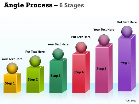 Marketing Diagram Angle Process With 6 Stages Sales Diagram