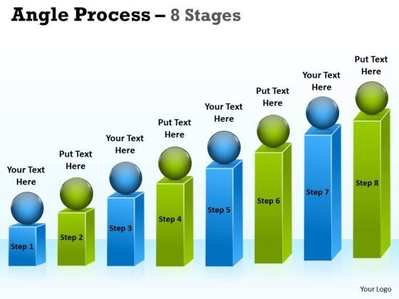 Marketing Diagram Angle Process With 8 Stages For Business Strategy Diagram