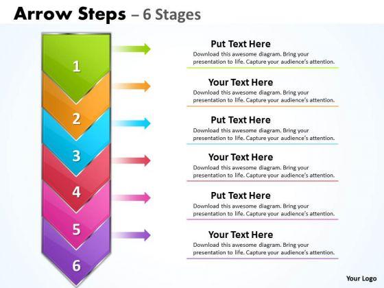 Marketing Diagram Arrow 6 Stages List Strategy Diagram