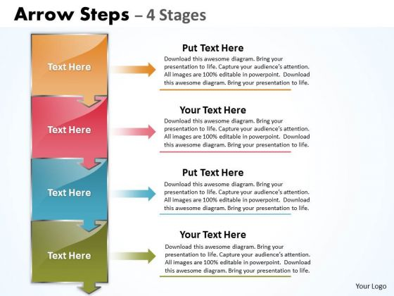 Marketing Diagram Arrow Steps 4 Stages Diagram Sales Diagram