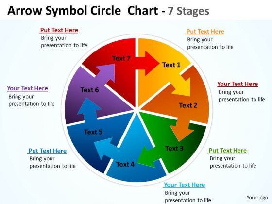 Marketing Diagram Arrow Symbol Circle Diagram Chart 7 Stages Business Framework Model