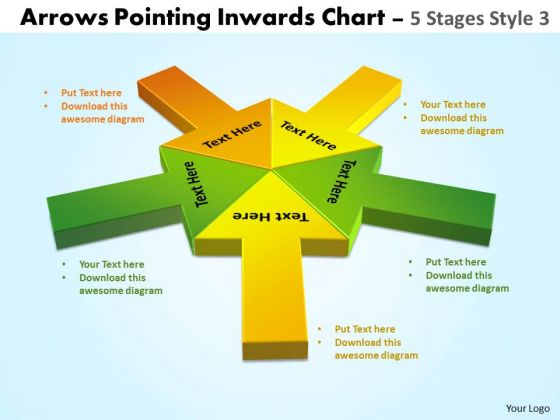 Marketing Diagram Arrows Pointing Inwards Chart 5 Consulting Diagram