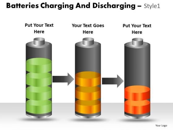 Marketing Diagram Batteries Charging And Discharging Style 1 Consulting Diagram