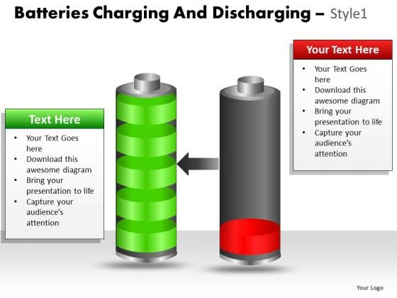 Marketing Diagram Batteries Charging And Discharging Style 1 Sales Diagram