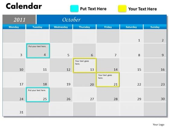 Marketing Diagram Blue Calendar 2011 Strategic Management