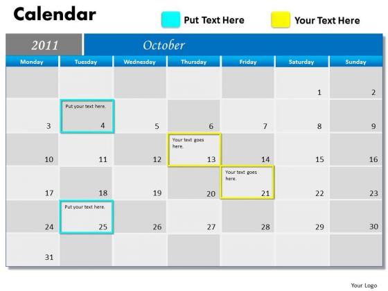 Marketing Diagram Blue Calendar 2011 Strategic Management