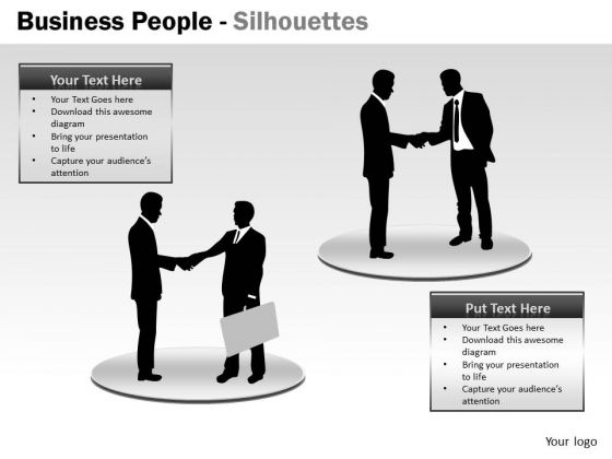 Marketing Diagram Business People Silhouettes Consulting Diagram