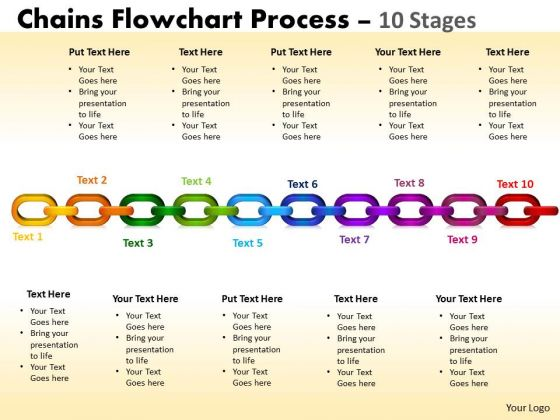 Marketing Diagram Chains Flowchart Process Diagram 10 Stages Consulting Diagram