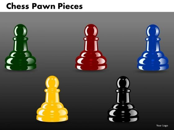 Marketing Diagram Chess Pawn Pieces Business Diagram