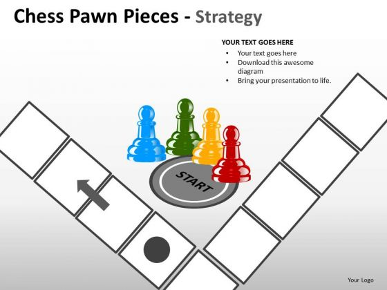 Marketing Diagram Chess Pawn Pieces Strategy Consulting Diagram