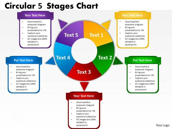 Marketing Diagram Circular 5 Stages Chart Consulting Diagram