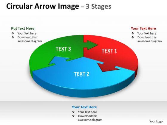 Marketing Diagram Circular Arrow Diagram Image 3 Stages Strategic Management