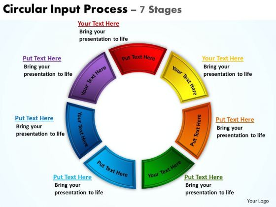 Marketing Diagram Circular Input Process 7 Stages Consulting Diagram