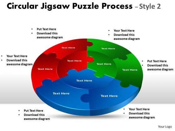 Marketing Diagram Circular Jigsaw Diagram Puzzle Process Style 2 Business Cycle Diagram