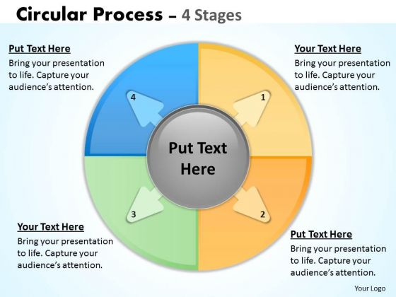 Marketing Diagram Circular Process 4 Stages Strategy Diagram