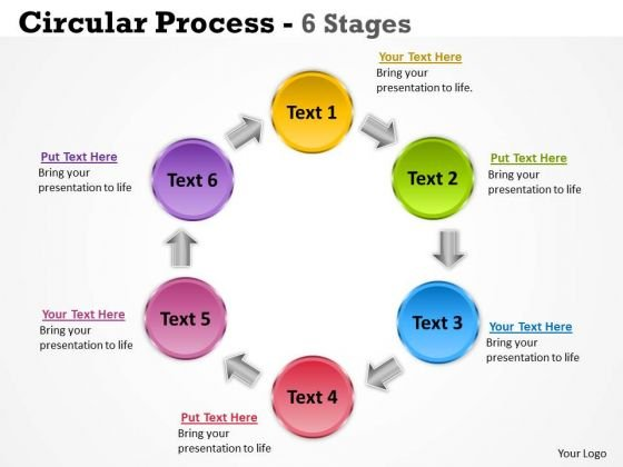 Marketing Diagram Circular Process 6 Stages Business Cycle Diagram