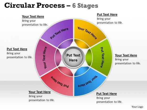 Marketing Diagram Circular Process 6 Stages Consulting Diagram