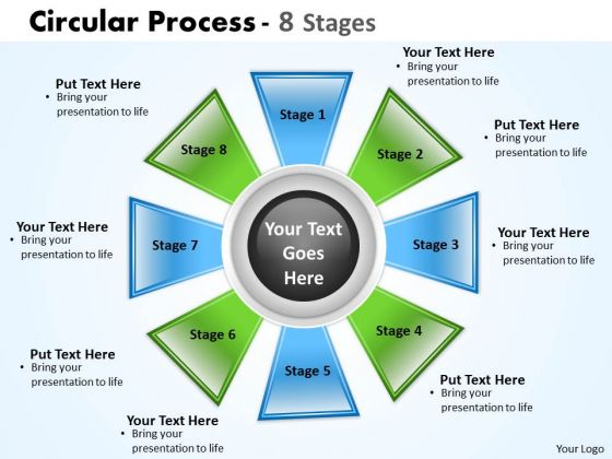 Marketing Diagram Circular Process 8 Stages Business Cycle Diagram