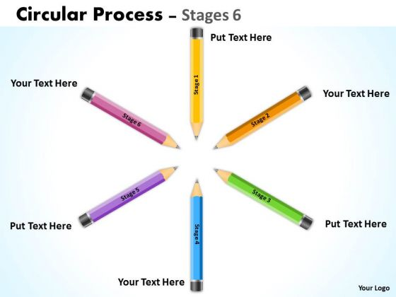Marketing Diagram Circular Process Stages 6 Consulting Diagram