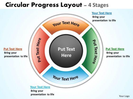 Marketing Diagram Circular Progress Layout Flow Business Framework Model