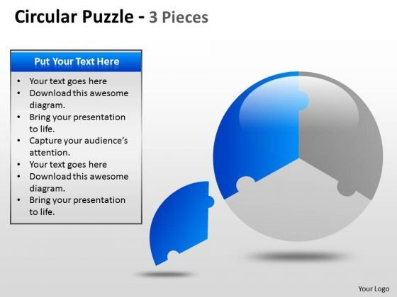 Marketing Diagram Circular Puzzle 2 And 3 Pieces Consulting Diagram