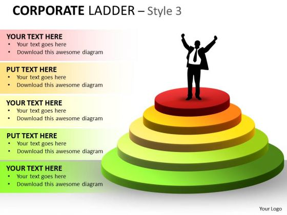 Marketing Diagram Corporate Ladder Style With 5 Stages Consulting Diagram