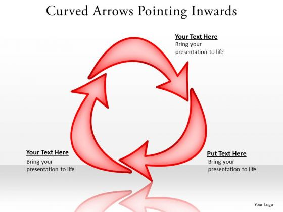 Marketing Diagram Curved Arrows Pointing Inwards Strategy Diagram