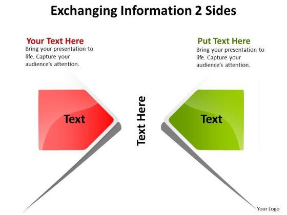 Marketing Diagram Exchanging Information Sides Sales Diagram