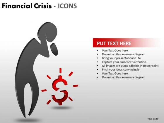 Marketing Diagram Financial Crisis Icons Consulting Diagram