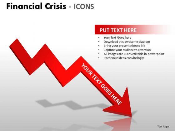 Marketing Diagram Financial Crisis Icons Strategy Diagram