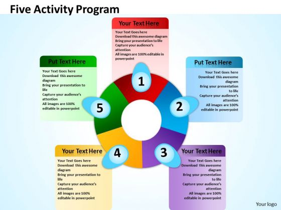 Marketing Diagram Five Activity Program Sales Diagram