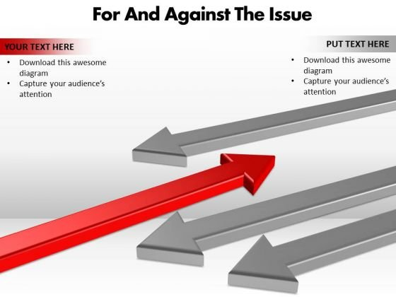 Marketing Diagram For And Against The Issue Editable Sales Diagram