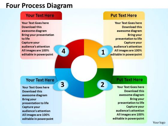 Marketing Diagram Four Process Diagram Consulting Diagram
