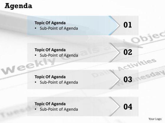 Marketing Diagram Four Steps Of Agenda Business Diagram